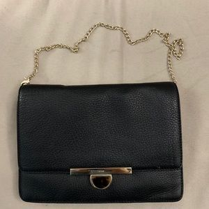 DKNY Black Clutch with Gold Strap